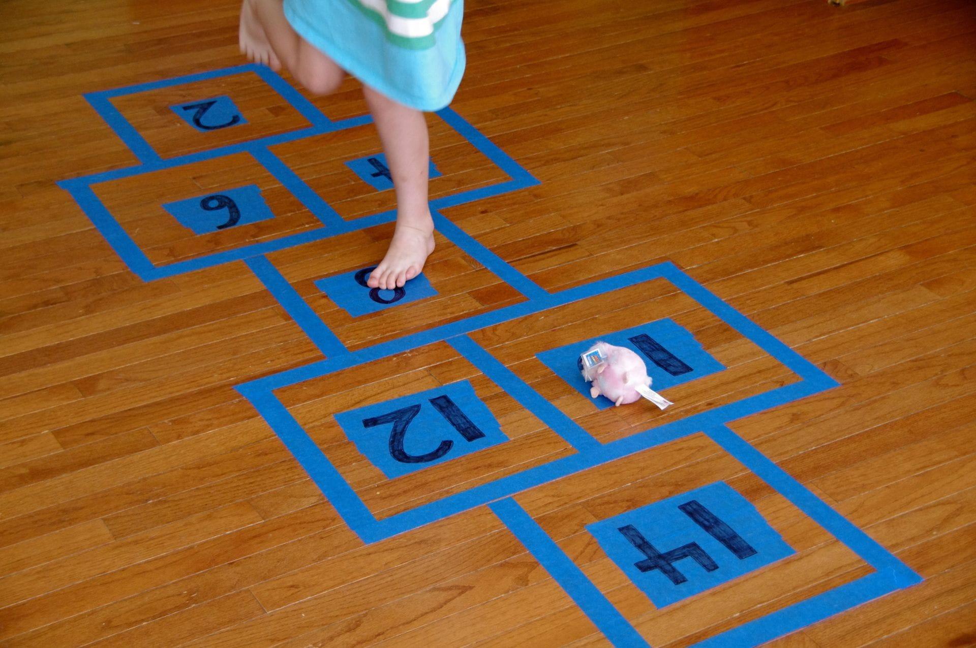 Indoor Skip-Count Hopscotch