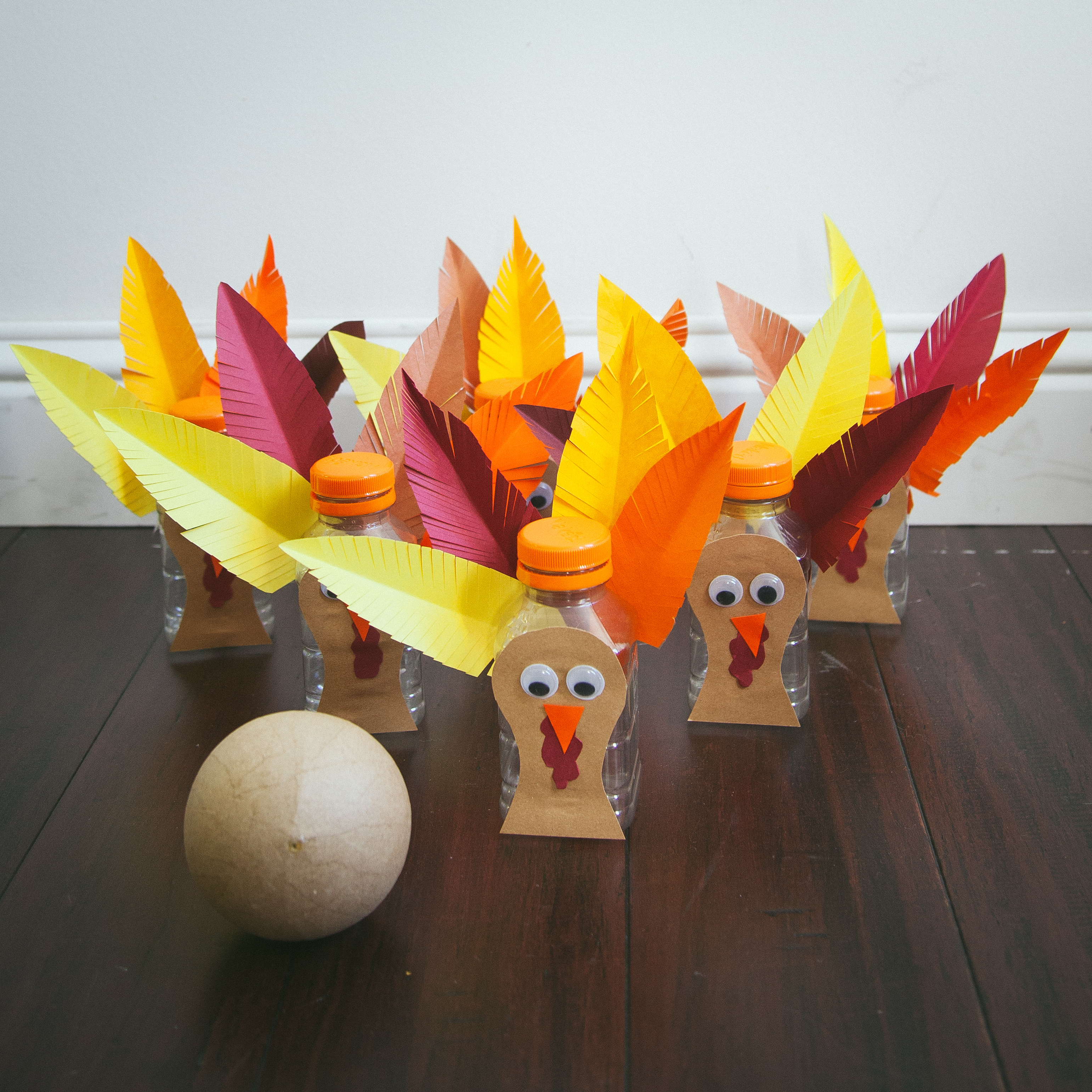 Thanksgiving Turkey Bowling Tradition for Kids