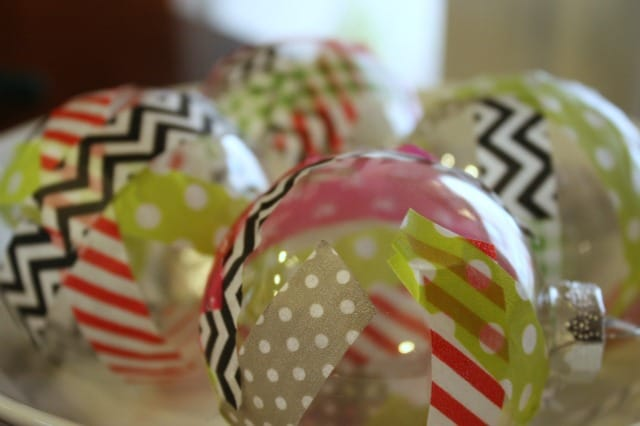Washi Tape Ornaments DIY project