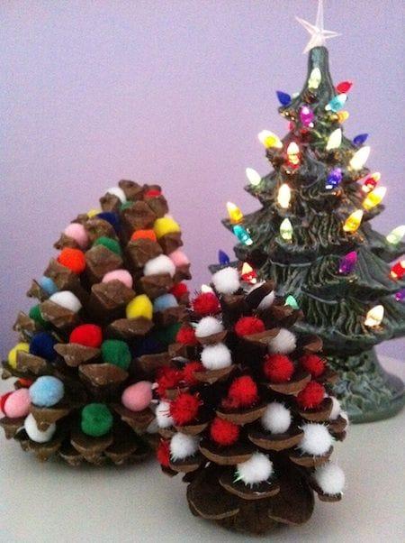 Pine Cone Christmas Tree DIY