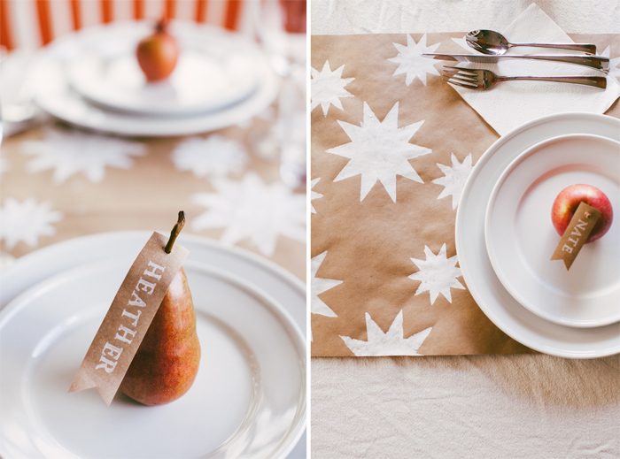 Last Minute decoration: Starry Holiday Table Runner