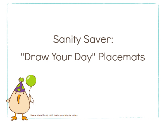 photograph regarding Printable Placemats named Attract Your Working day\