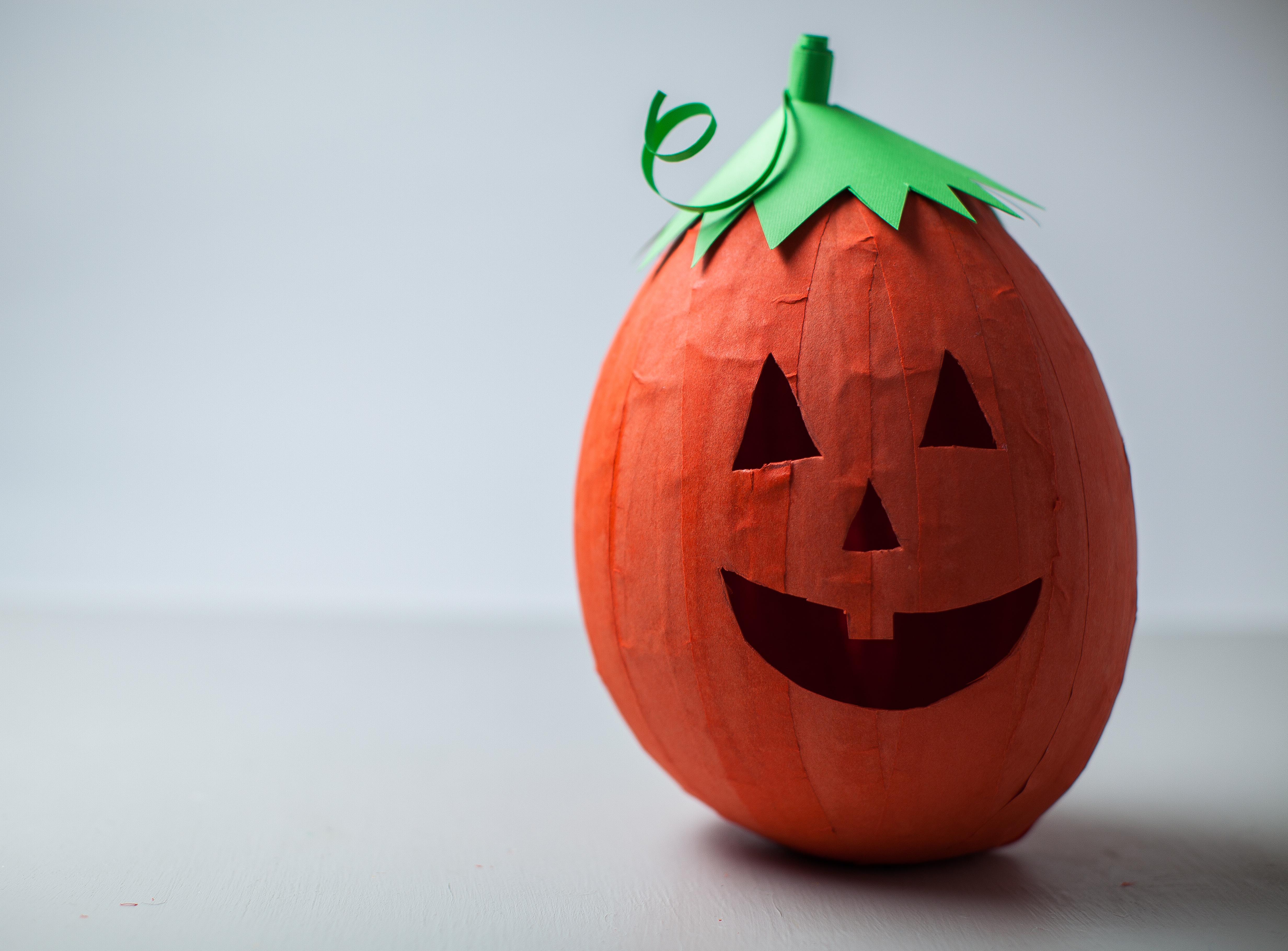 Paper Mache Pumpkin Decorations